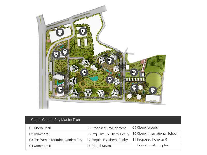 Oberoi Garden Map