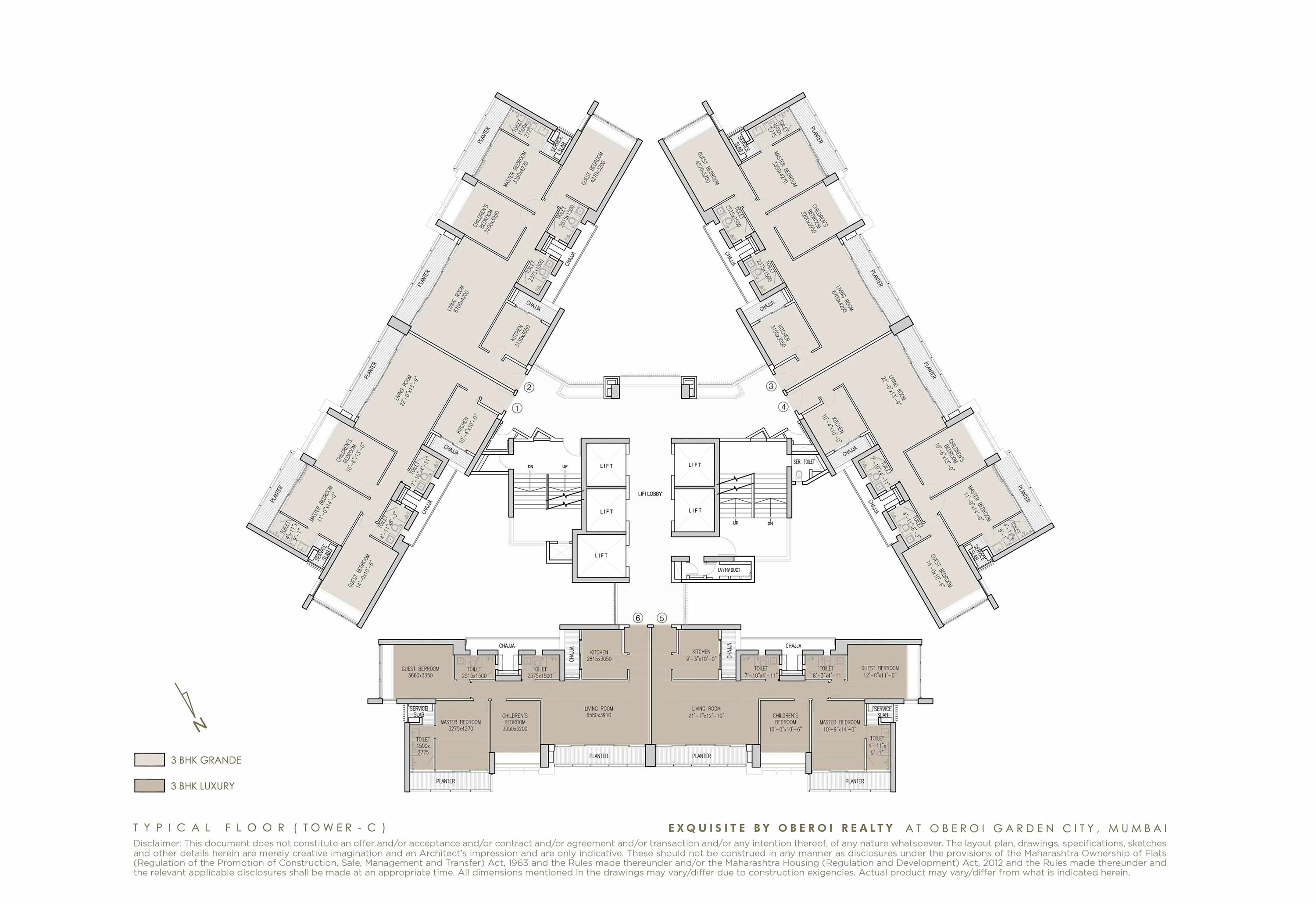 Exquisite: Luxury Flats: Goregaon (E) Mumbai: Floor Plan: 3