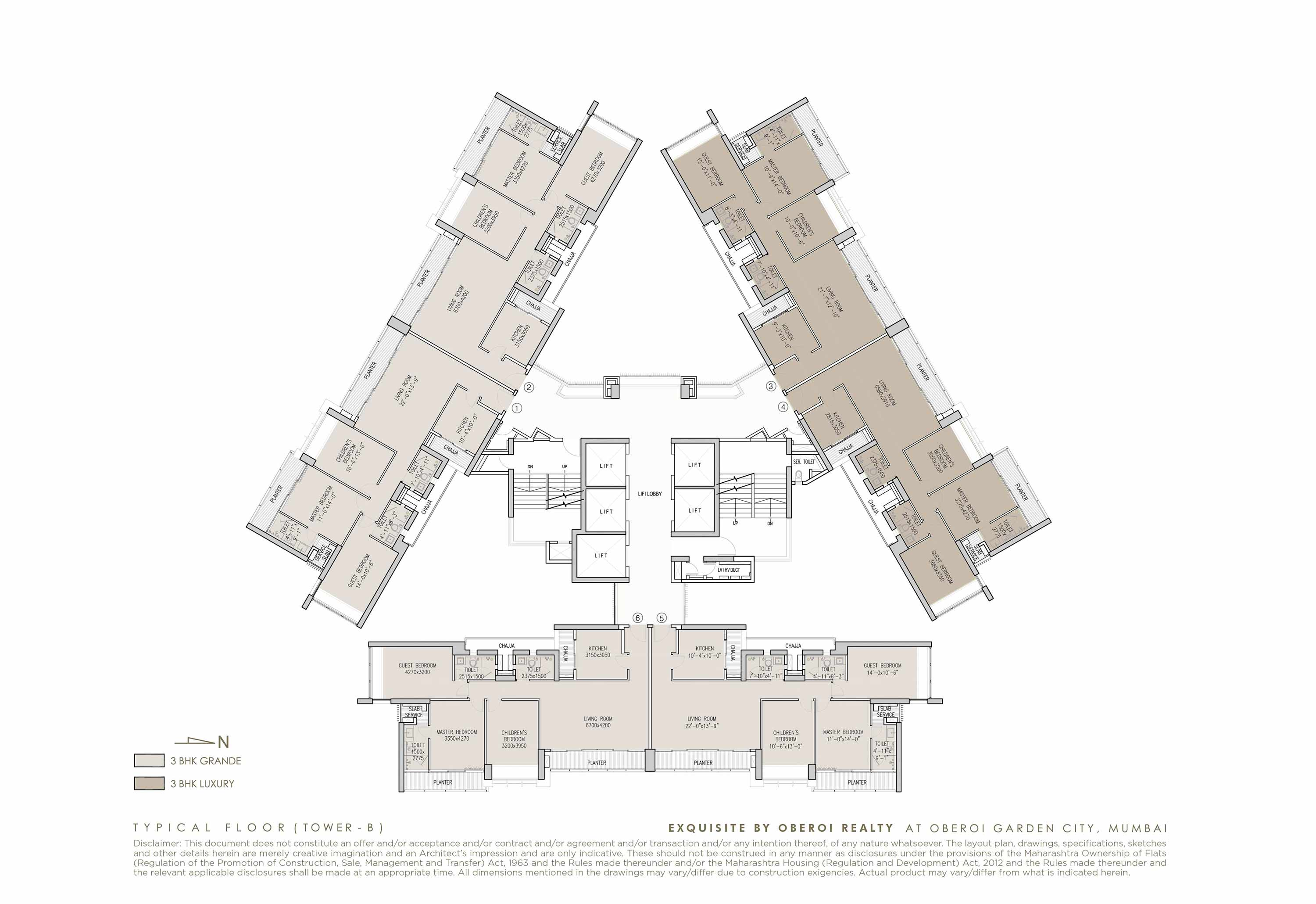 Exquisite: Luxury Flats: Goregaon (E) Mumbai: Floor Plan: 2