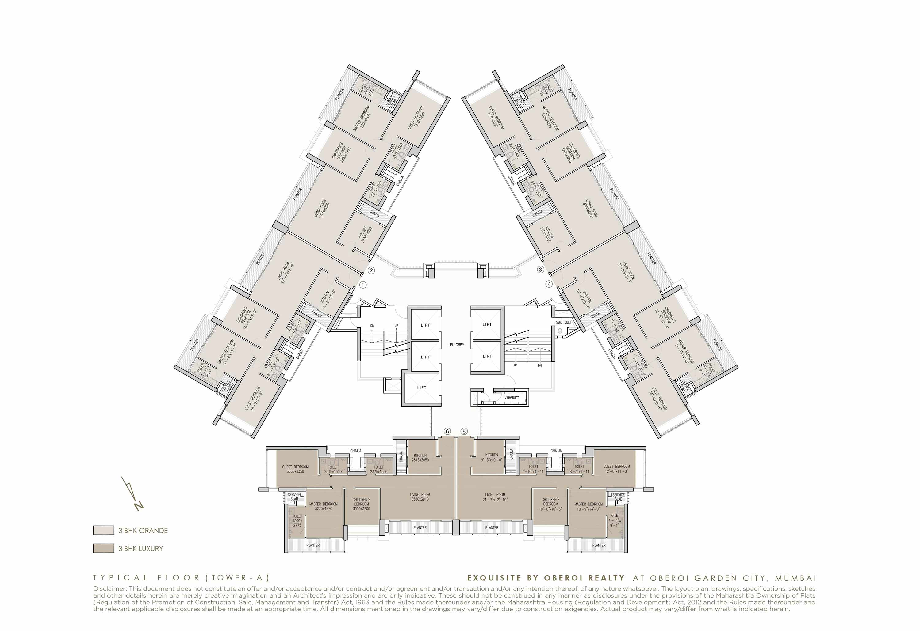 Exquisite: Luxury Flats: Goregaon (E) Mumbai: Floor Plan: 1