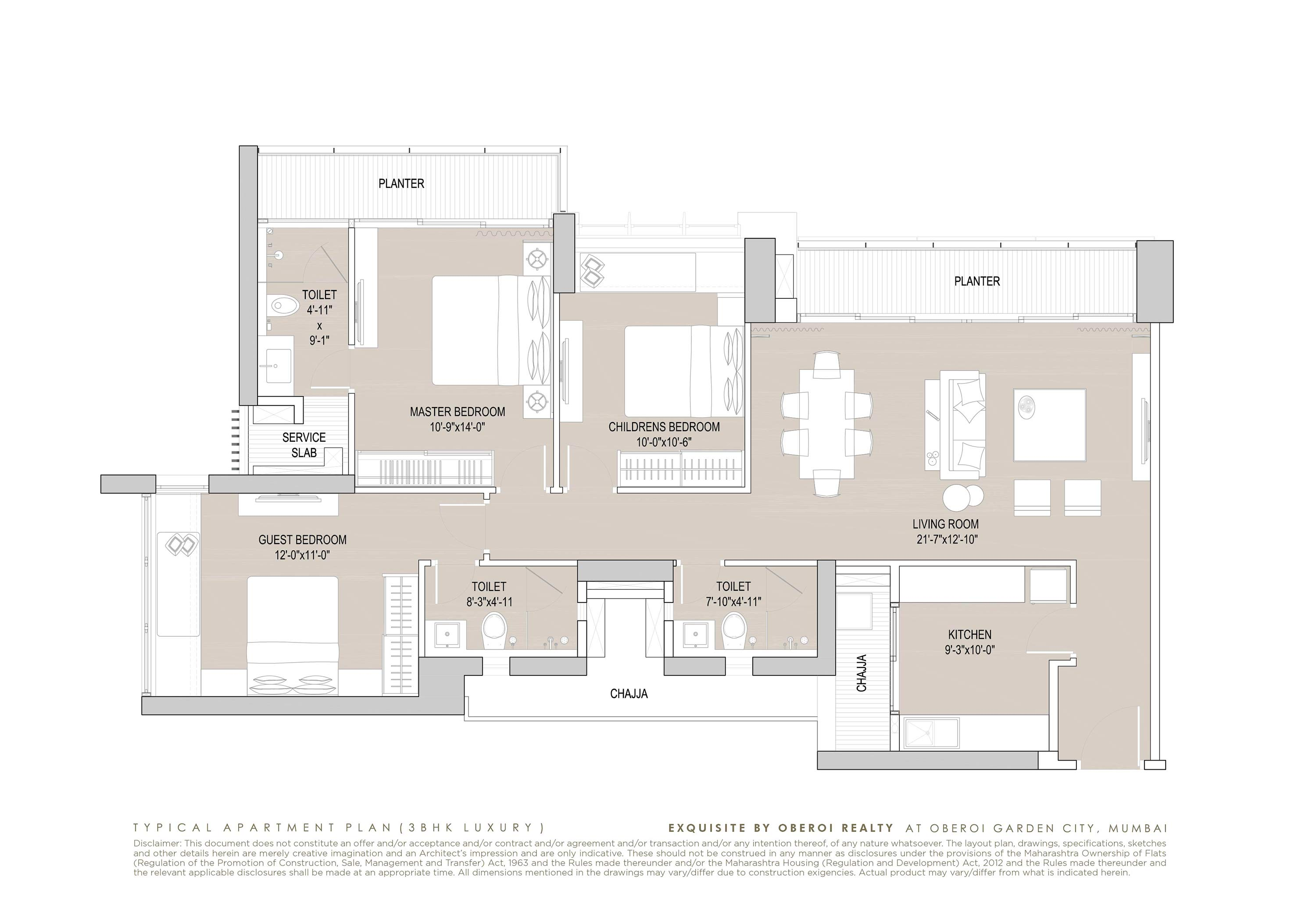 Exquisite: Luxury Flats: Goregaon (E) Mumbai: Floor Plan: 4