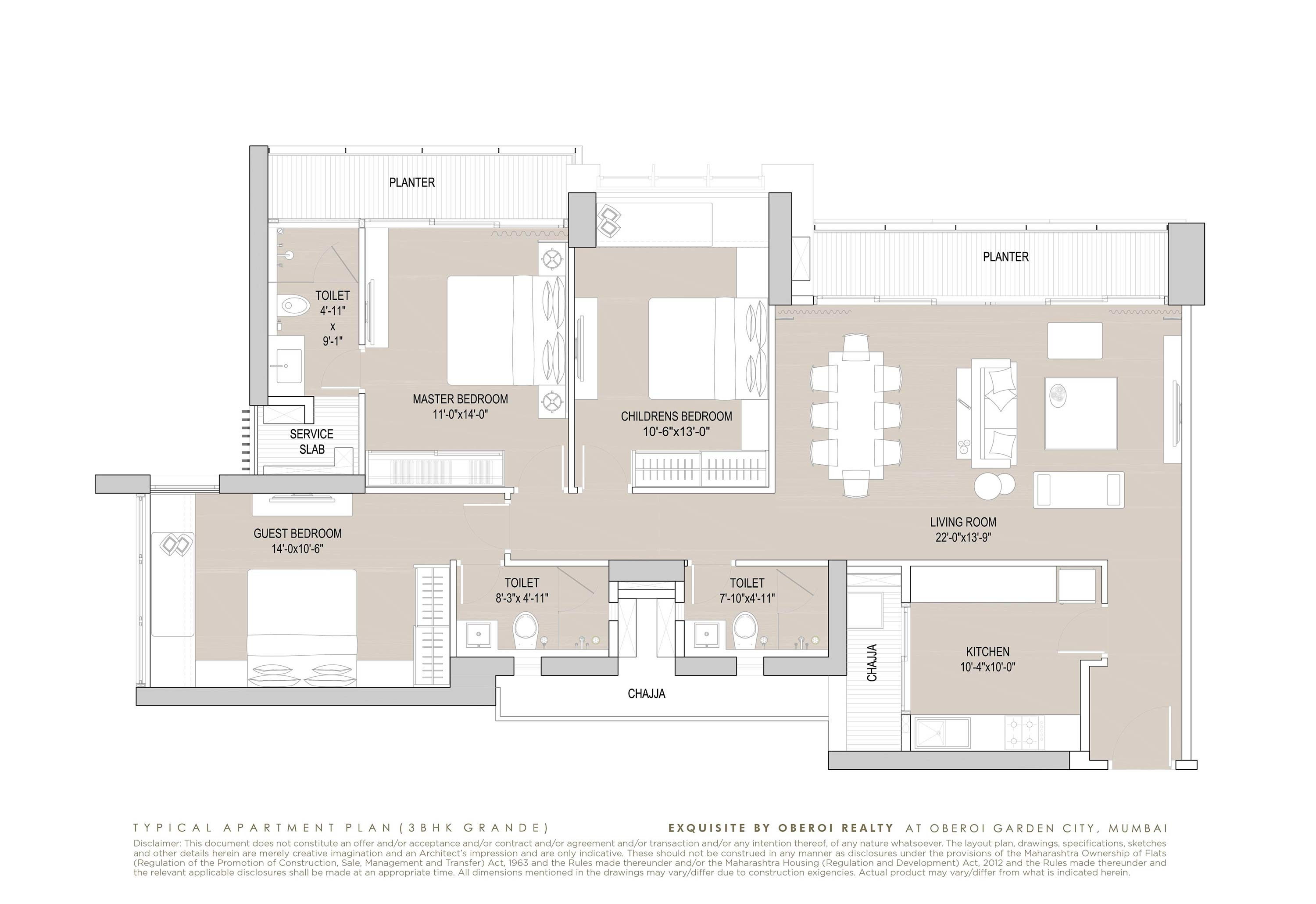 Exquisite: Luxury Flats: Goregaon (E) Mumbai: Floor Plan: 5