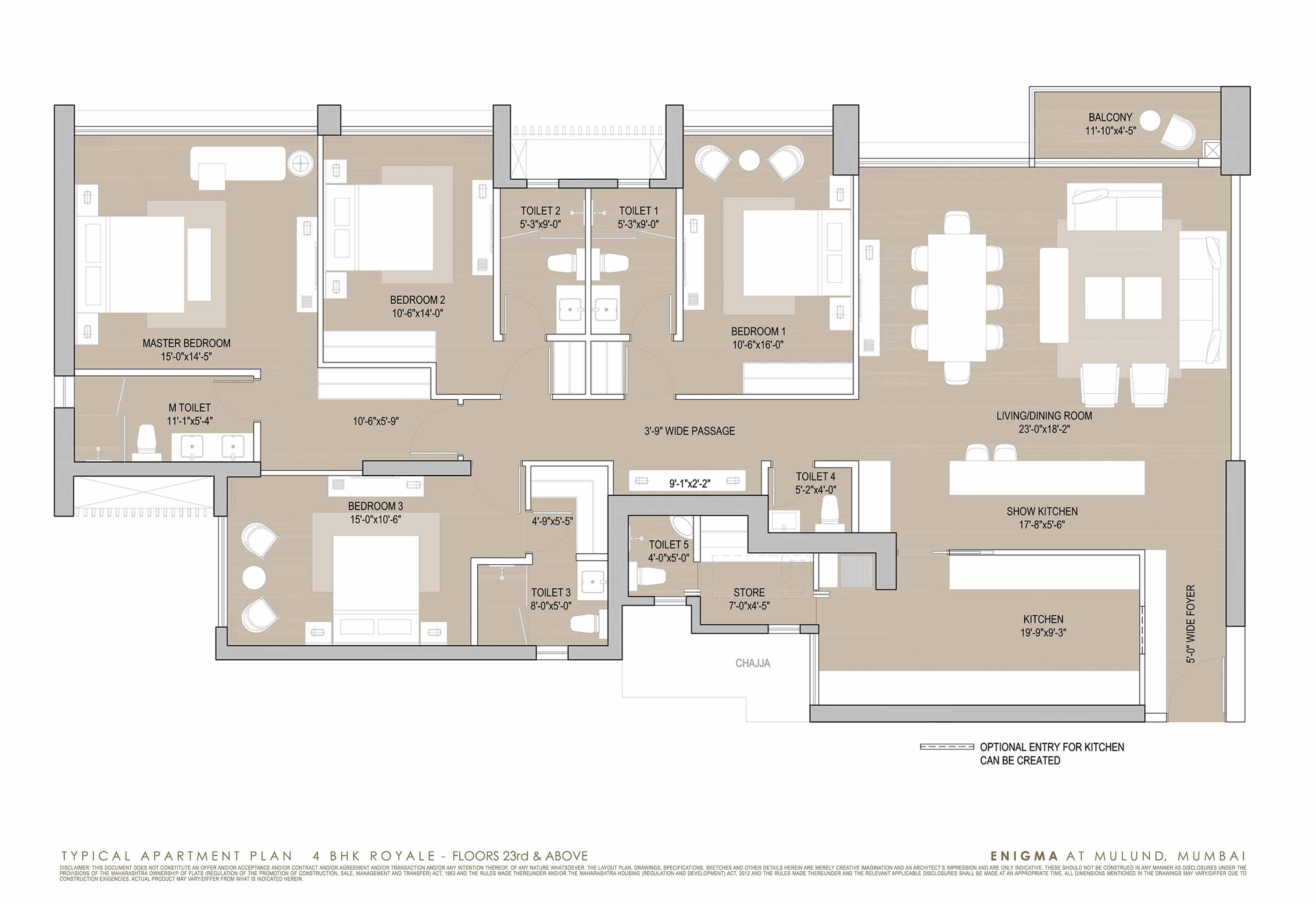 Luxury Penthouse Floor Plan 3 Amp 4 Bhk Luxury Apartments Property On Lbs Road Mulund