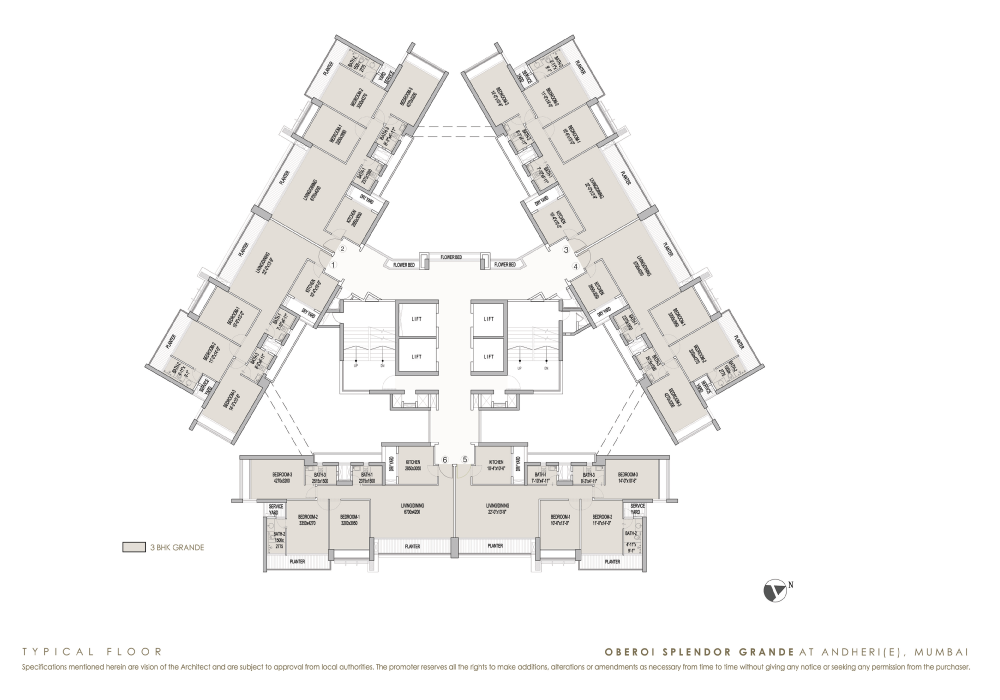 Oberoi Splendor Grande: Luxury Properties: Andheri (E): Floor Plan: 1