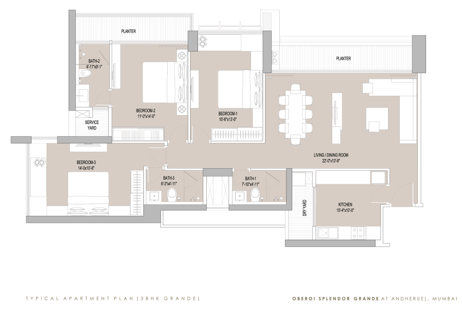 Oberoi Splendor Grande: Luxury Properties: Andheri (E): Floor Plan: 2